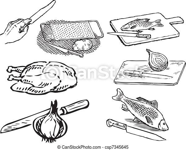 Comidas en la cocina - csp7345645