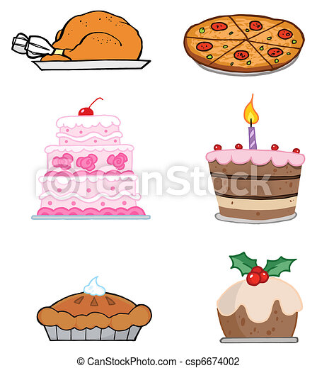 alimentos, feriado - csp6674002