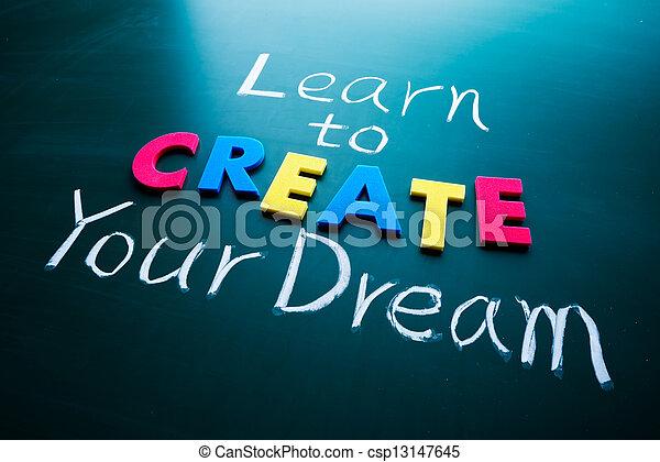 alkot, álmodik, -e, tanul - csp13147645