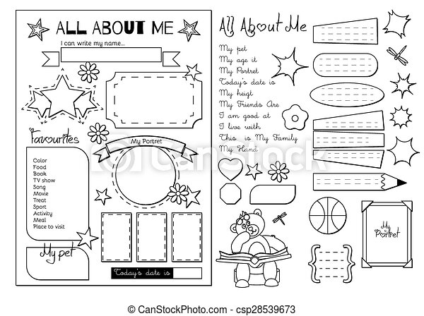 All About Me School Printable Back To School All About Me