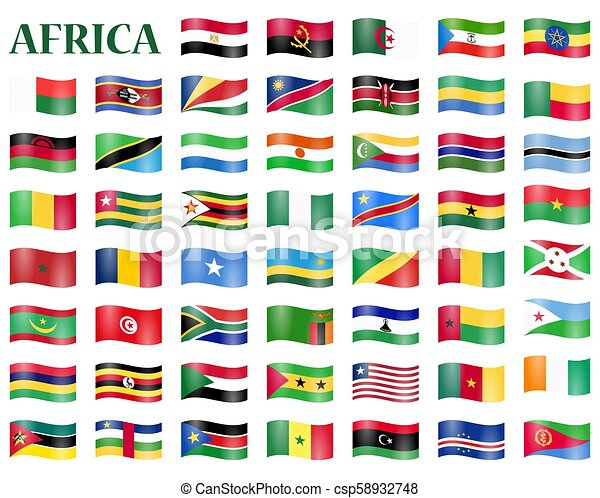 all country flags of africa collection of flags from all national