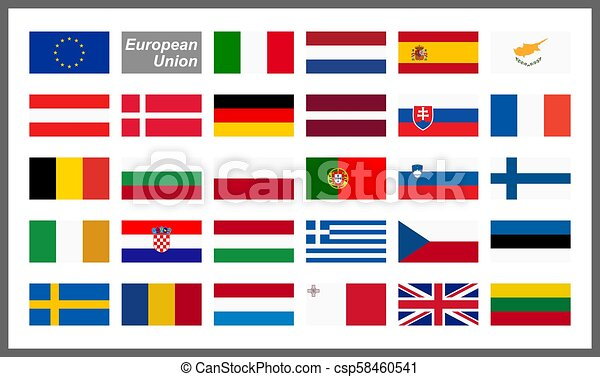 all country flags of european union collection of flags from all