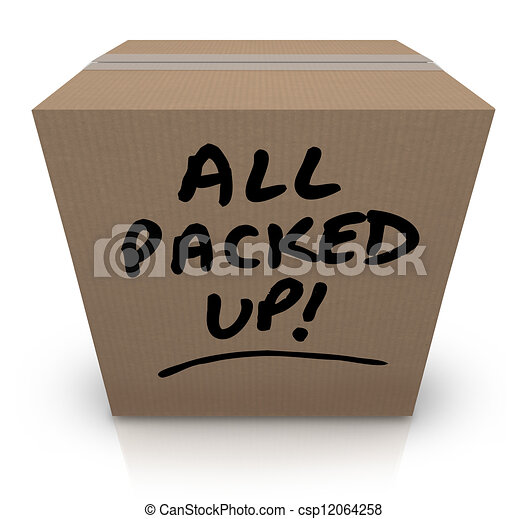 All Packed Up Cardboard Box Moving Relocation - csp12064258