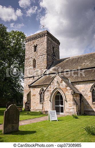 All Saints Church-Village of Hovingham - csp37308985