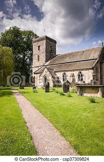 All Saints Church-Village of Hovingham - csp37309824