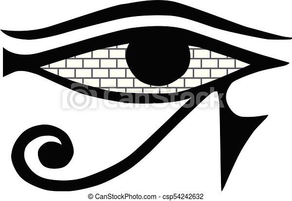 All Seeing Eye Mason Sign On A White Background Masonic Symbol Isolated Ancient Egypt