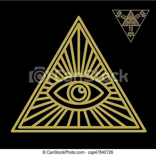 All Seeing Eye Or Radiant Delta Masonic Symbol Symbolizing The