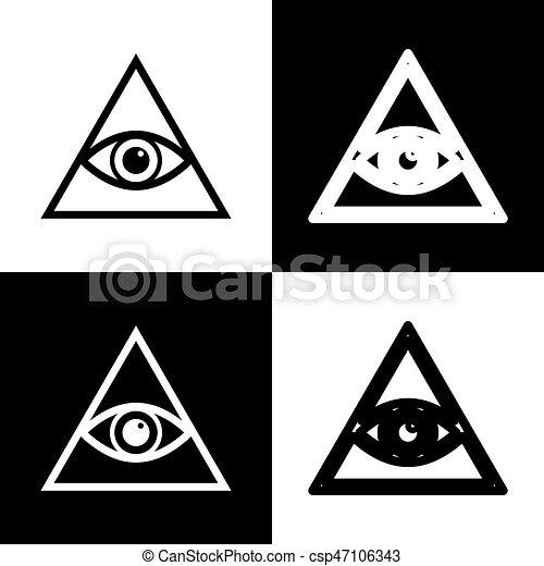 All Seeing Eye Pyramid Symbol Freemason And Spiritual Eps