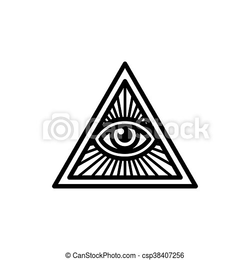 All Seeing Eye Symbol Masonic Symbol All Seeing Eye Inside