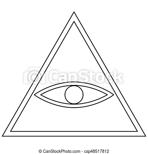 All Seeing Eye Symbol The Black Color Icon All Seeing Eye