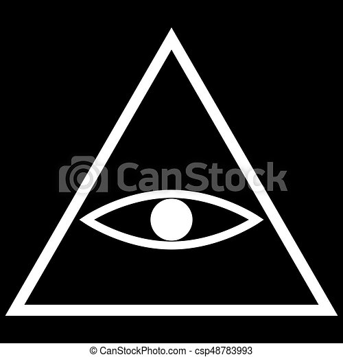 All Seeing Eye Symbol The White Color Icon All Seeing Eye Eps