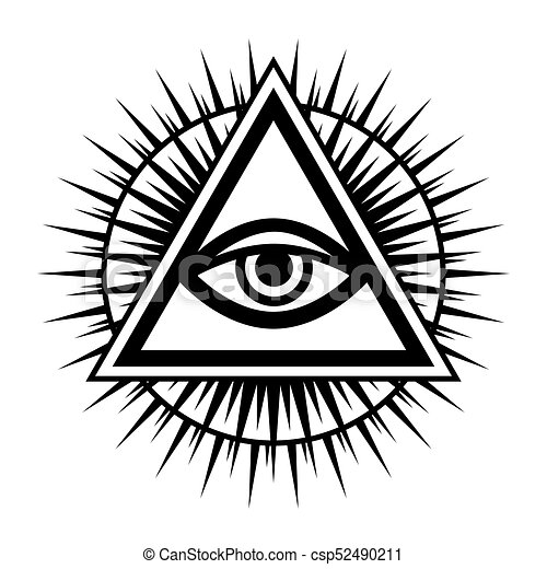 All seeing eye the eye of providence csp52490211