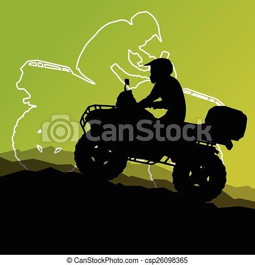 All terrain vehicle quad motorbike - csp26098365