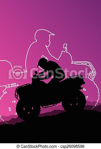 All terrain vehicle quad motorbike  - csp26098596