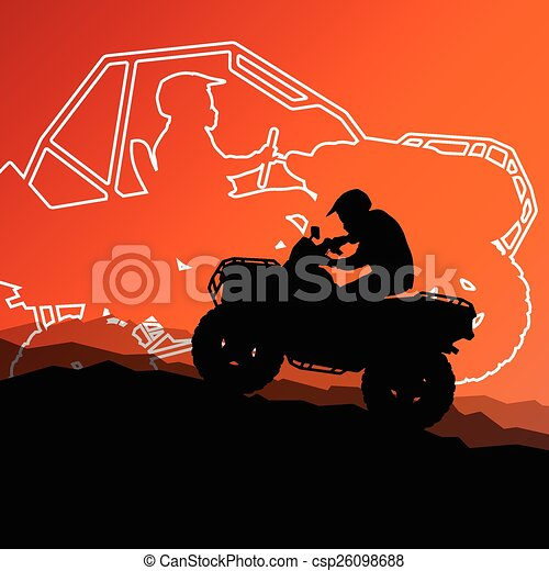 All terrain vehicle quad motorbike  - csp26098688