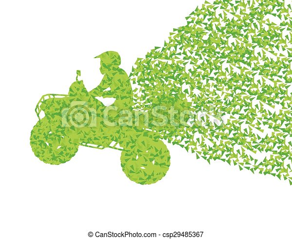 All terrain vehicle quad motorbike rider concept - csp29485367