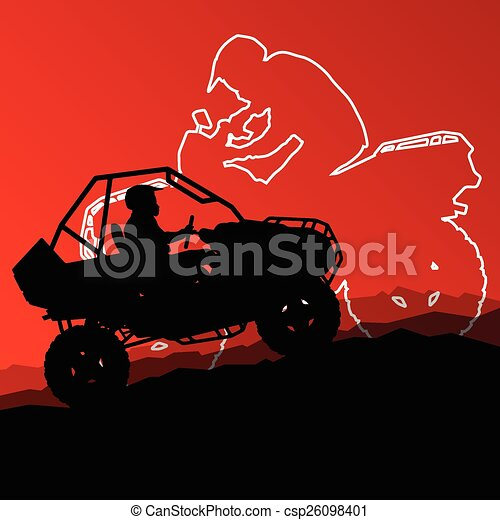 All terrain vehicle quad motorbike - csp26098401