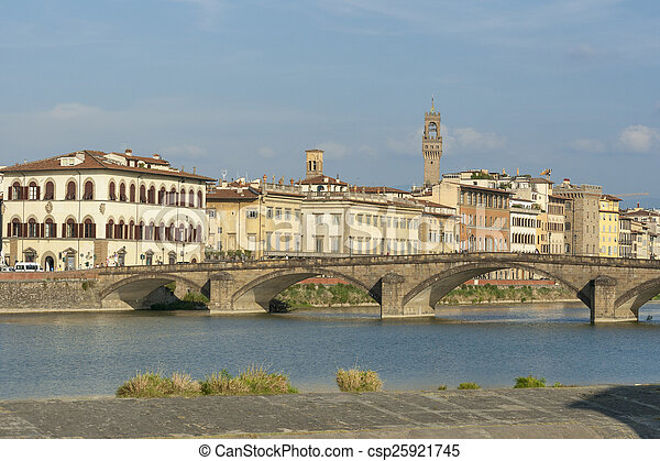 Alla Carraia bridge in Florence - csp25921745