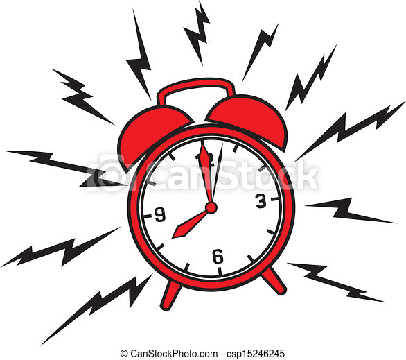 allarme, classico, orologio - csp15246245