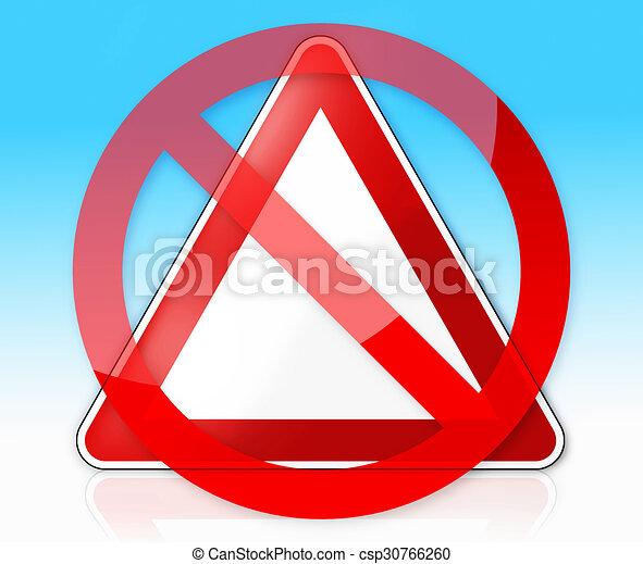 Dessin Panneau Attention allemand, attention, panneau de signalisation.