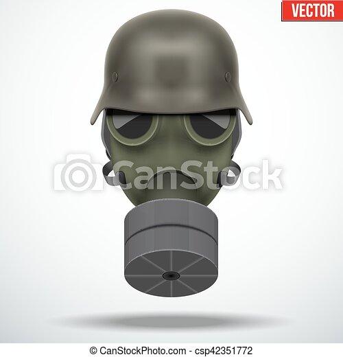 allemand casque masque gaz militaire casque arm e. Black Bedroom Furniture Sets. Home Design Ideas