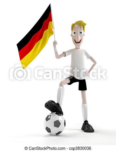allemand, joueur, football - csp3830036