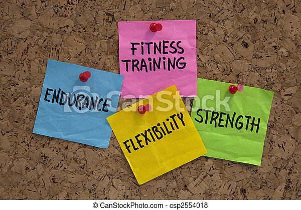 allenamento salute, elementi, o, mete - csp2554018