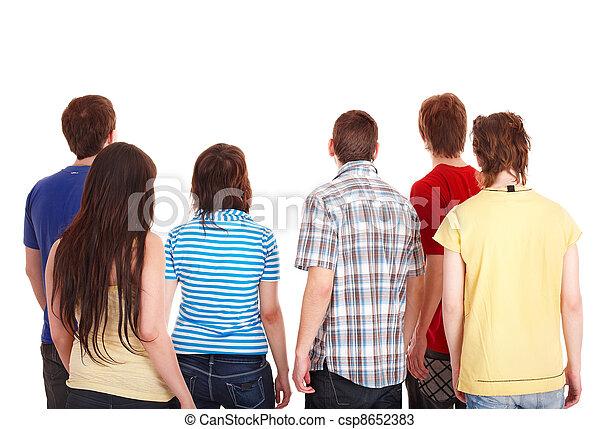 aller, away., groupe, jeunes - csp8652383