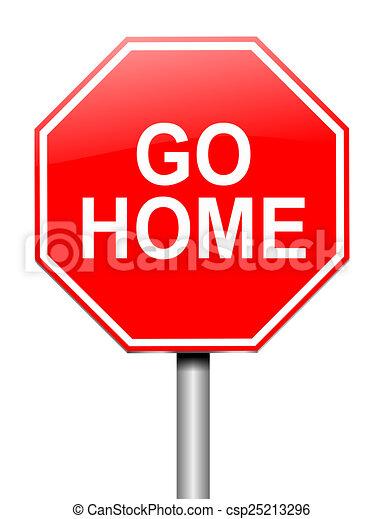 Aller maison concept concept illustration signe for Aller a la maison
