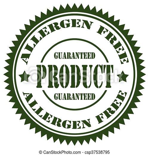 Allergen Free-stamp - csp37538795