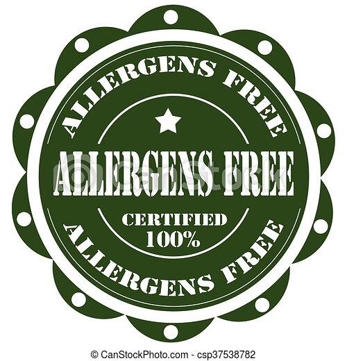 Allergens Free-stamp - csp37538782