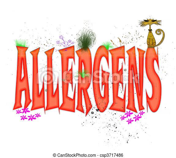 Mecanografía alérgica - csp3717486