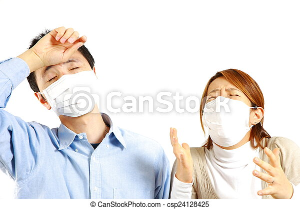 allergic rhinitis - csp24128425