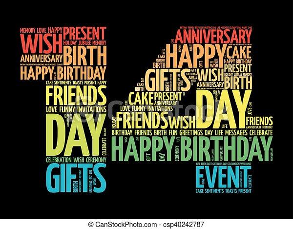 Zum 14 glückwünsche 14. Geburtstag