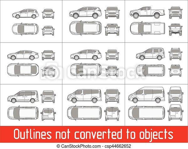Alles, kleintransport, auto, zeichnung, suv, gegenstände,... Clipart ...