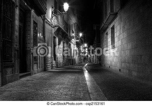 Alley at Night - csp2153161