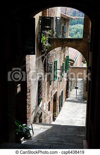 alley in Siena - csp6438419