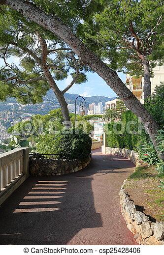 Alley in the park of Monaco - csp25428406