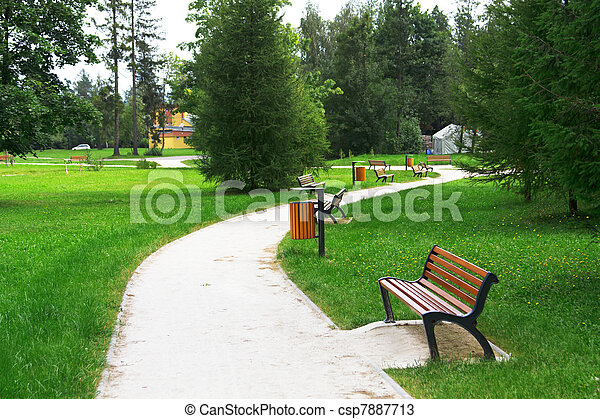 Alley in the park - csp7887713