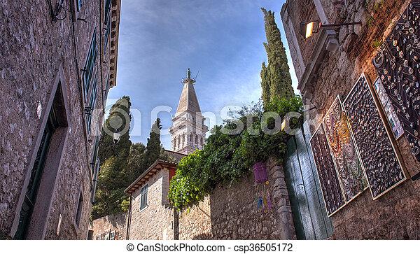 Alley of Rovinj - csp36505172