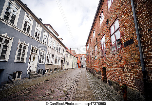 Alley with old buildings - csp47370960