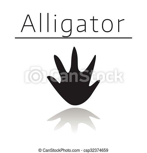 Alligator Animal Track Vector
