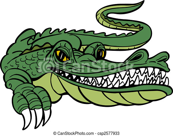 alligator cartoon alligator character isolated on a white rh canstockphoto com Louisiana Alligator Clip Art Funny Alligator Clip Art