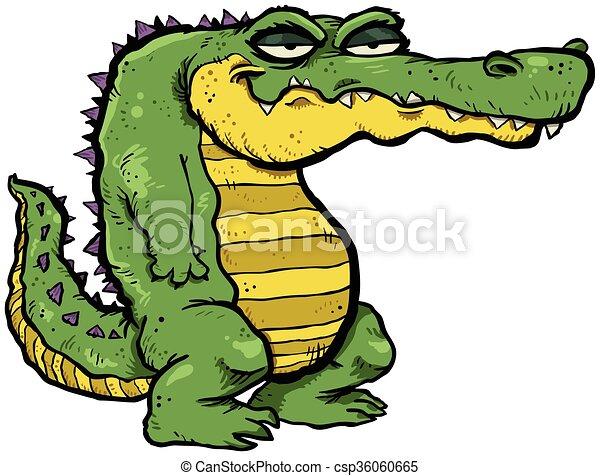 alligator cartoon vector