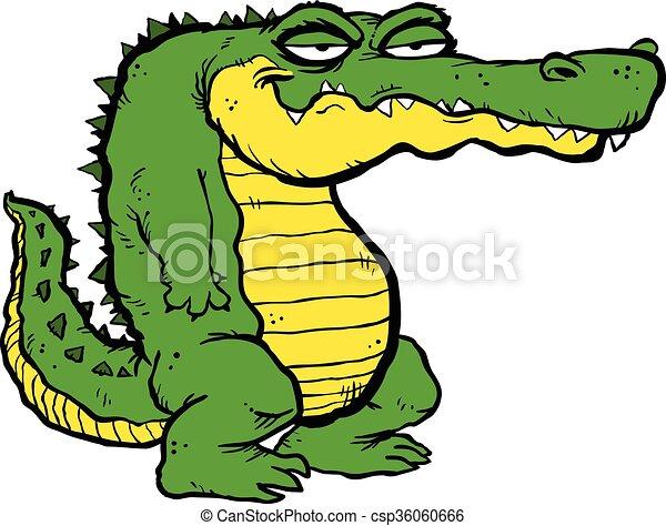Alligator cartoon vector.
