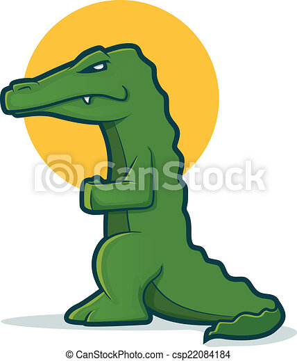 Alligator Character - csp22084184