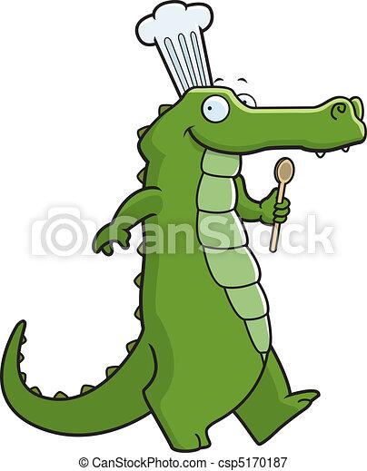 Alligator Chef - csp5170187