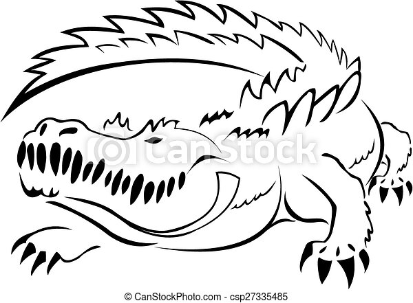 alligator black and white image of alligator rh canstockphoto com