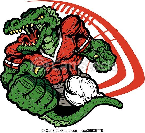 alligator football - csp36636778