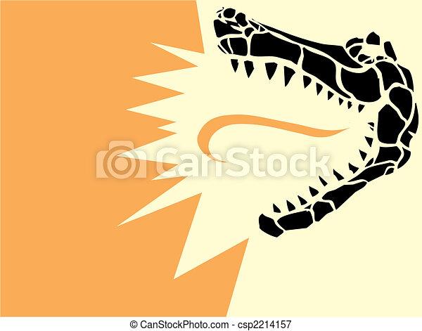 Alligator Head - csp2214157